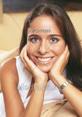 Teenage Girl with Beautiful Smile Stock Photo