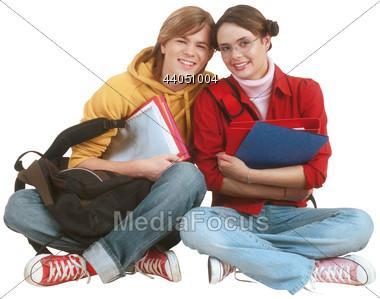 Teenage Students Stock Photo
