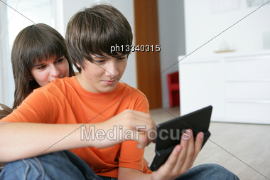 Teenagers Playing A Game Stock Photo