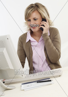 Telemarketing Professional Stock Photo