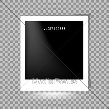 Template Photo Design. Photoframe On Checkered Background Stock Photo