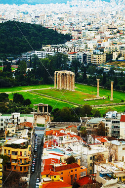 Temple Of Olympian Zeus In Athens, Greece On An Overcast Day Stock Photo