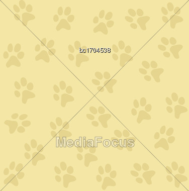Texture Background With Paws, Vector Format Stock Photo
