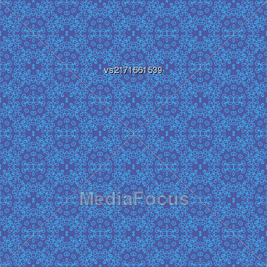 Texture On Blue. Element For Design. Ornamental Backdrop. Pattern Fill. Ornate Floral Decor For Wallpaper. Traditional Decor On Background Stock Photo