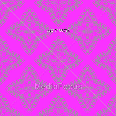 Texture On Blue. Element For Design. Ornamental Backdrop. Pattern Fill. Ornate Floral Decor For Wallpaper. Traditional Decor On Pink Background Stock Photo
