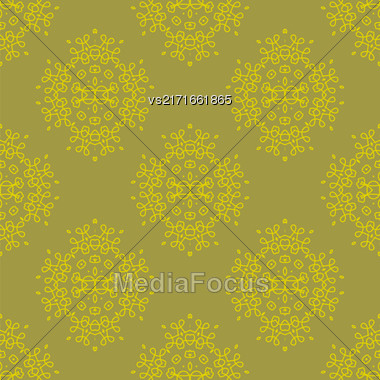 Texture On Brown. Element For Design. Ornamental Backdrop. Pattern Fill. Ornate Floral Decor For Wallpaper. Traditional Decor On Background Stock Photo