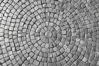 Texture Of Cobblestone In Old Town Stock Photo
