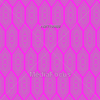 Texture On Pink. Element For Design. Ornamental Backdrop. Pattern Fill. Ornate Floral Decor For Wallpaper. Traditional Decor On Background Stock Photo