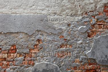 Texture Of Venetian Wall. Venice. Italy.Venetto Area. Stock Photo