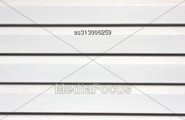 Texture Of White Painted Wooden Lining Boards Stock Photo