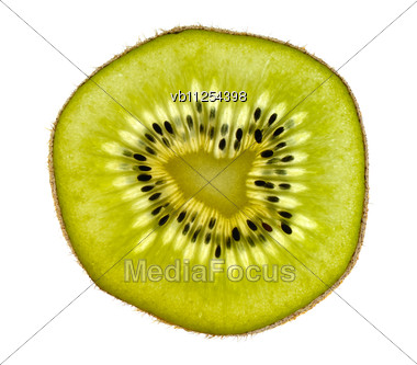 Thin Slices Of Kiwi Fruit Stock Photo
