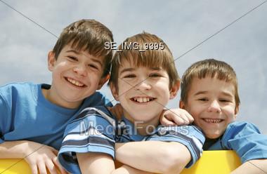Three Brothers Stock Photo