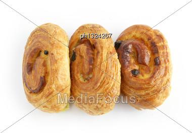 Three Danish Pastries Stock Photo