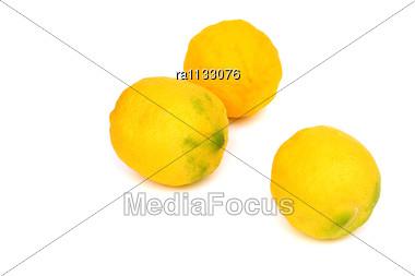 Three Lemons Stock Photo