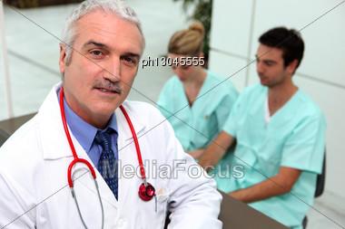 Three Medical Professionals Stock Photo
