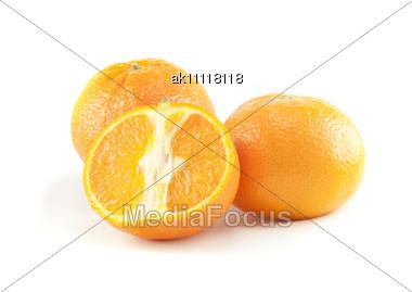 Three Oranges Stock Photo
