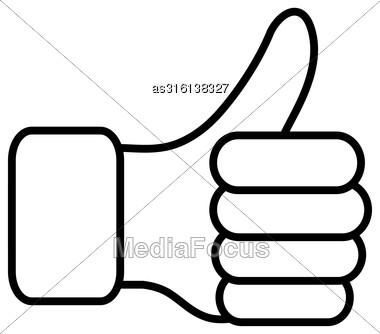 Thumb Lifted Upwards. Vector Illustration Stock Photo