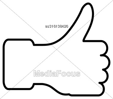 Thumb Lifted Upwards. Vector Illustration Stock Photo