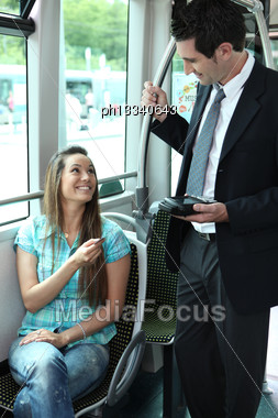 Ticket Collector Stock Photo