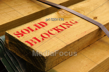 Timber For A Kitset Building Ready To Be Used Stock Photo