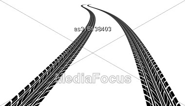 Tire Prints, Vector Illustration Stock Photo