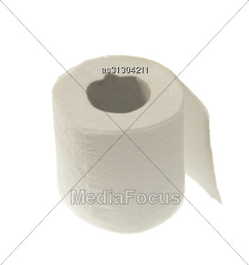 Toilet Wc Paper Roll Stock Photo