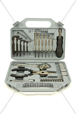 Toolbox With Several Different Tools Stock Photo