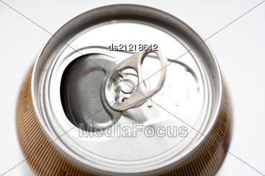 Top Of An Opened Soda Can Stock Photo