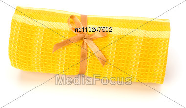 Towel Roll Isolated On White Background Stock Photo