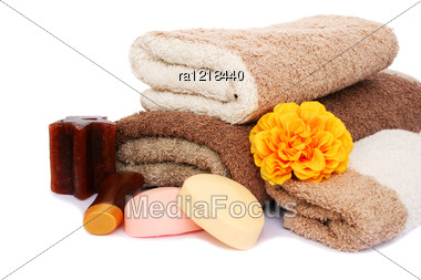 Towels And Spa Set Stock Photo