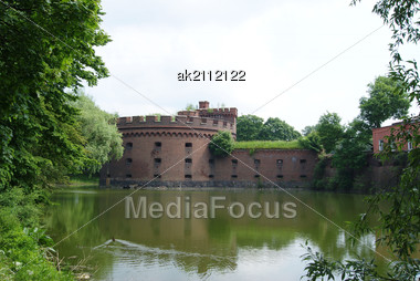 Tower Of The First Defensive Ring Of Konigsberg Stock Photo