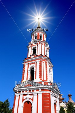 Tower Orthodox Church Stock Photo