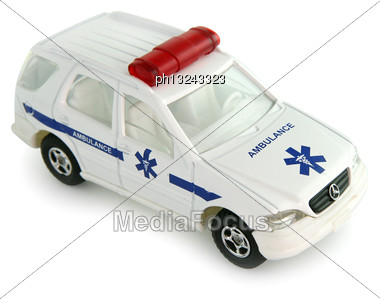 Toy Ambulance Stock Photo