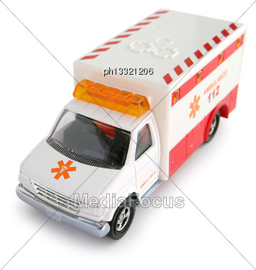 Toy Ambulance Stock Photo
