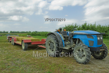 Tractor with Trailor Stock Photo