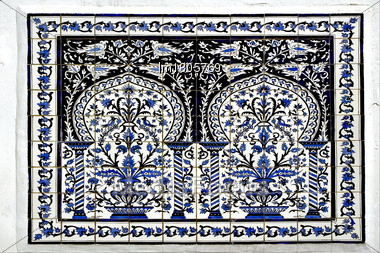 Traditional Blue Mosaic Piece Of Ceramics In Sidi Bou Said Stock Photo