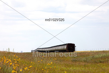 Train In The Prairies Tanker Cars Oil Crude Stock Photo