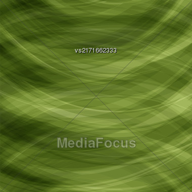 Transparent Green Background. Wave Pattern For Your Design Stock Photo