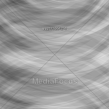 Transparent Grey Background. Wave Pattern For Your Design Stock Photo