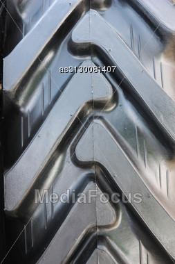 Tread Tires Black Closeup Stock Photo