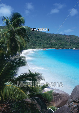 Tropcial Beaches, Seychelles Stock Photo