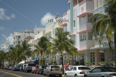 Tropical Southbeach - Miami FL, USA Stock Photo