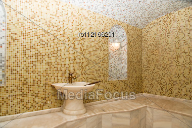 Turkish Bath With Ceramic Tile In Roman Style Stock Photo