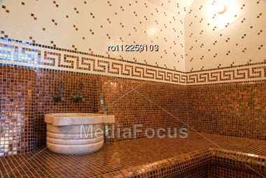 Bathroom designs ceramic tile floor home decorating Roman style bathroom designs