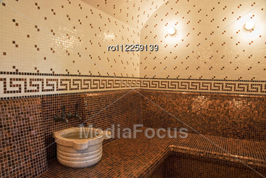 Royalty Free Stock Photo: Turkish Bath With Ceramic Tile In Roman Style