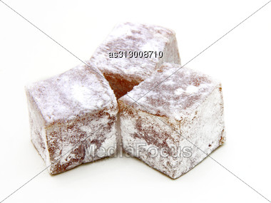 Turkish Delight (lokum) Confection Stock Photo