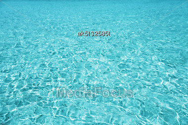 Turquoise Sea Water As A Natural Background Stock Photo
