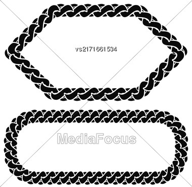 Two Chain Frames Isolated On White Background Stock Photo