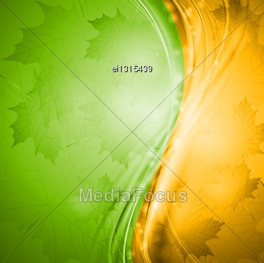 Two-colored Autumn Background. Vector Illustration Eps 10 Stock Photo