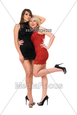 Two Gorgeous Young Women. Stock Photo